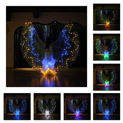 Belly Dance LED Isis Wings Butterfly Glow Light Up Kostümfarbe veränderbar ()
