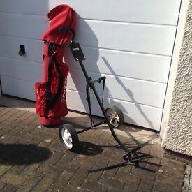 Golf trolley etc