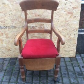 Pine high back chair