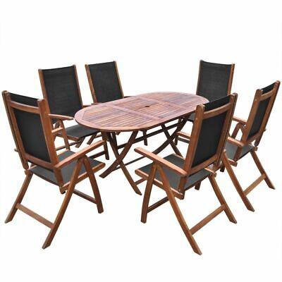 vidaXL Set de Muebles Comedor de Jardín Plegable 7 Piezas de Madera...