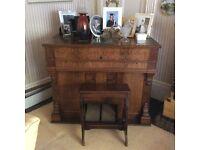 Walnut Trayser harmonium. A beautiful piece of furniture and a wonderful instrument