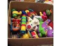 LARGE BOX OF ELECTRONIC BABY/TODDLER TOYS