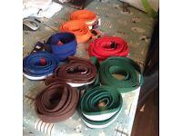 Various karate belts
