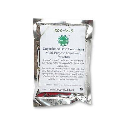 eco-vie Natural and Vegan Unperfumed Savon Noir Soap Refill Sachet for 500ml