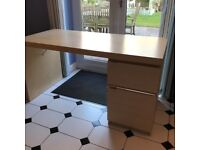 Ikea Desk with Cupboard and Drawer