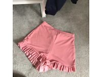 Pretty Little Thing Pink Frill Shorts - 8