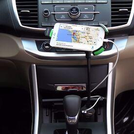 360° Car Charger Holder Mount 2 USB Cradle+Charging Adapter for Smart Phones