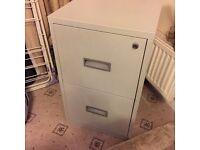 2 drawer grey filing cabinet metal