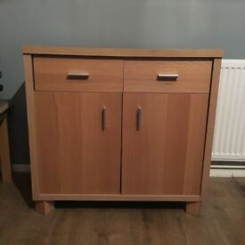 Oak effect sideboard