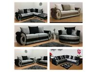BRAND NEW CLIO FABRIC/VELVET 2 ARM, CORNER, 3+2 SOFAS WITH EXPRESS DELIVERY!
