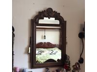 Antique Art Deco Gothic Mirror, was part of chest of drawers