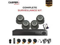 4CH DVR 1080p CCTV Dome VARIFOCAL HD Cameras 2.8-12mm LENS 30m IR Security kit