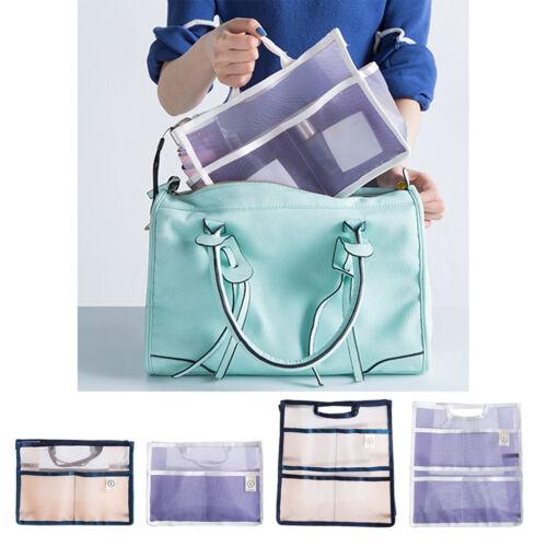 Women Large Mesh Tidy Organizer Handbag Insert Liner Purse M