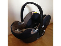 Cybex Aton Q Platinum infant car seat from birth - 12 month brown /navy