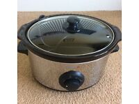 Breville slow cooker in chrome 3.5l, great condition