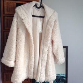John Rocha Debenhams Cream Fluffy Dressing gown 12/14 NEW Tags attached