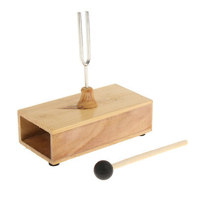 440Hz Frequency Tuning Fork with Resonator Box for Acoustic Experiment