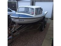 14ft Fishing Boat with 25hp Yamaha Outboard . May Swap / Px for Car/jeep/van