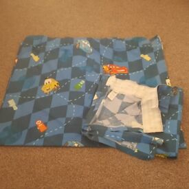 Childs/boys bedroom curtains. Cars. Pencil pleat.