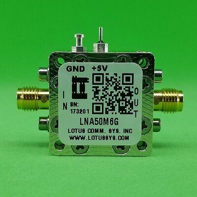 Broadband Low Noise Amplifier 0.65db Nf 50m 6ghz 16.5db Gain 22dbm P1db Sma