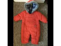 Mothercare Red Snowsuit 3-6 months