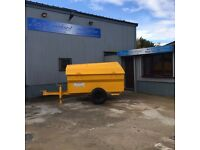 2000 Litre Diesel / Fuel Fully Bunded Bowser Tank, Road Towable w/ Hand Pump