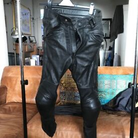 Triumph Leather Trousers and Spada two-piece