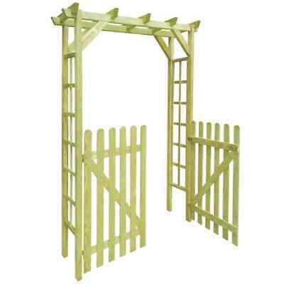 Arbour Rose Arch Garden Gate Impregnated Wood 150x50x200cm Trelli Patio Pergolas