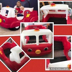 Little tikes fire truck bed