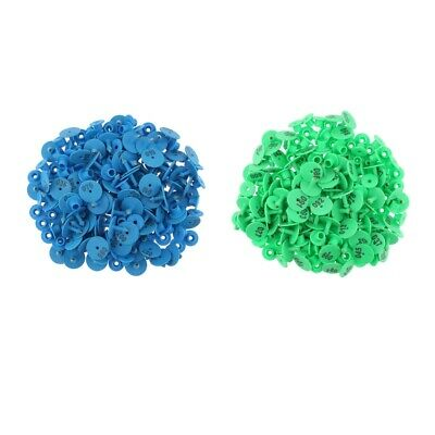 200pcs Livestock Ear Tag With Numbers For Pig Cow Cattle Sheep Blue Green