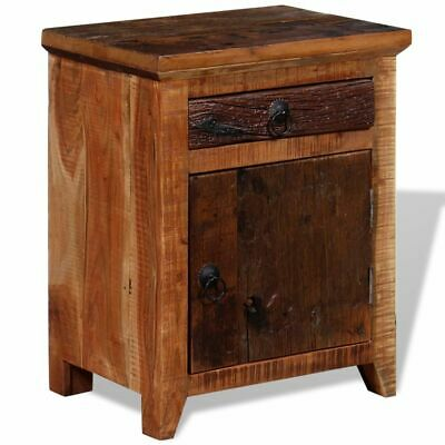 Telephone Table Stand - vidaXL Nightstand Solid Acacia Sleeper Wood End Bedside Table Telephone Stand