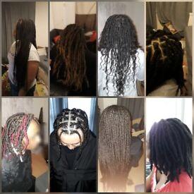 Afro hair stylist - BOX Braids, long method Faux Loc's, Senegalese twist PRICE £50-£90