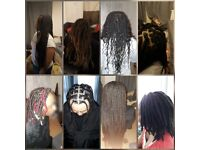 Afro hair stylist - BOX Braids, long method Faux Loc's, Senegalese twist PRICE £50-£90