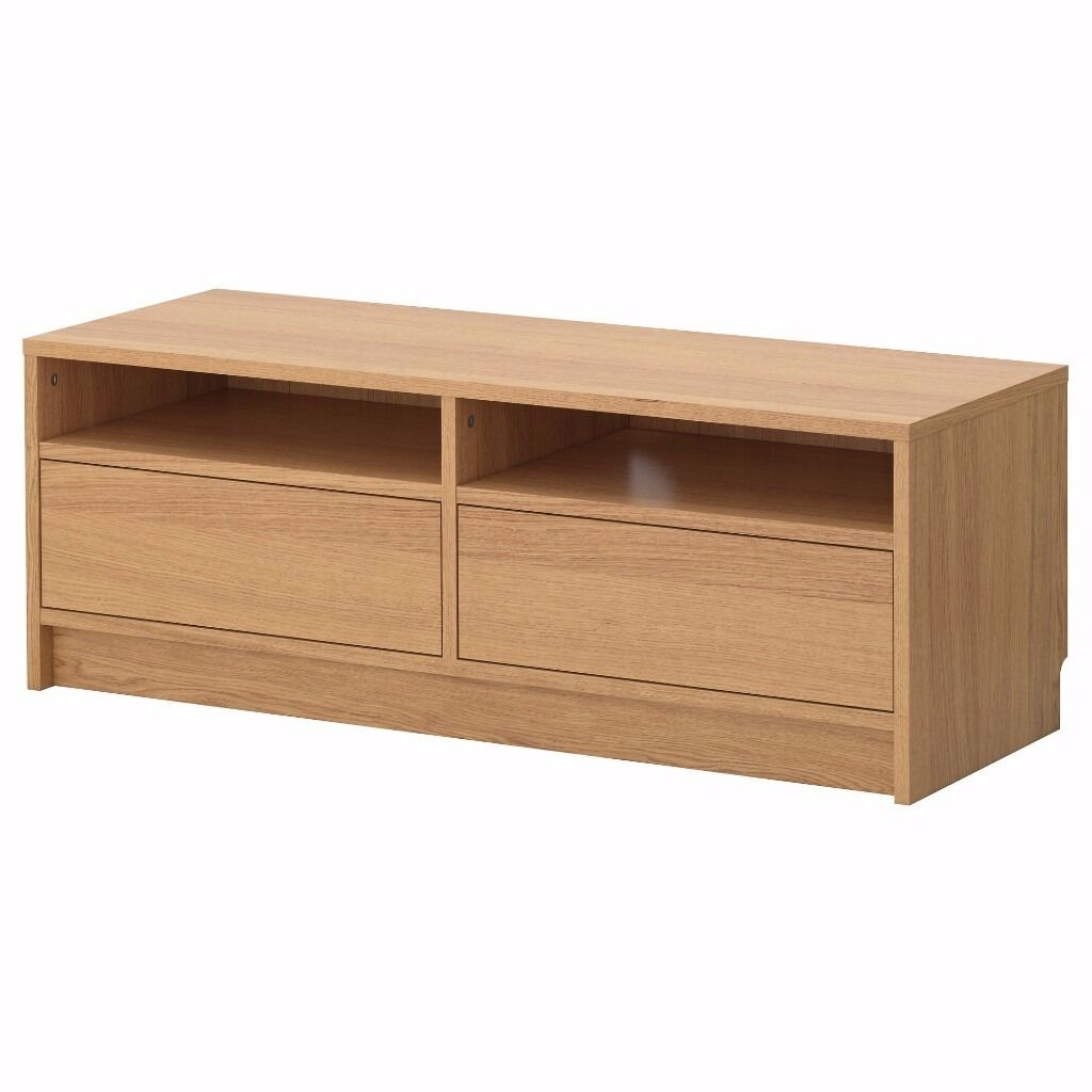 Ikea besta tv stand tv unit tv bench oak with drawers in for Meuble cd dvd ikea
