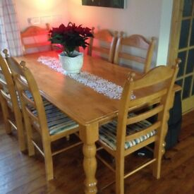 Farmhouse Table And Chairs 150 For Quick Sale