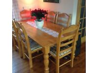 Farmhouse table and chairs £200 for quick sale