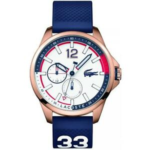 Men's Lacoste Blue Silicone Strap Watch 2010902