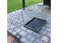 Folding steel mesh dog/pet carrier in excellent condition