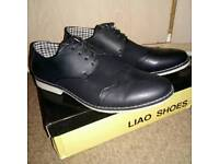 Men's Leather Shoes Black UK8 New With Box