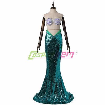 Womens Little Mermaid Costume Adult Ariel Halloween Fancy Dress Custom Made (Little Mermaid Costume Womens)