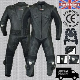 HOTLINER 2017 Men's Brock Style Motorbike Motorcycle Racing Leather Suit