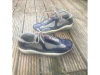Prada patent blue trainers size 6