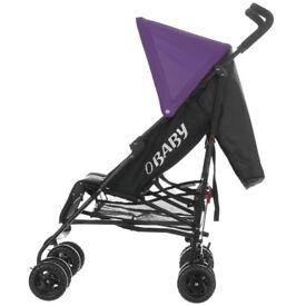 £20 BRAND NEW OBABY BLACK/PURPLE stroller