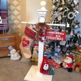 Christmas hanging stocking stand