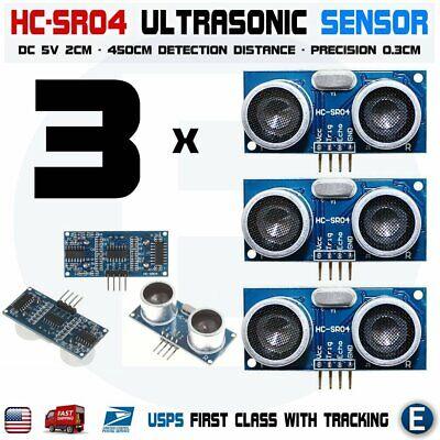 3pcs Hc-sr04 Ultrasonic Sensor Module Measuring Arduino Raspberry Pi Robot