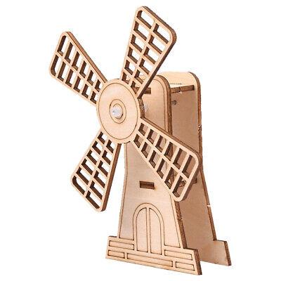 DIY Holzbau Spielzeug für Kinder Montieren Sie Modell Windmühle Kit 3D (Bau-spielzeug Für Kinder)