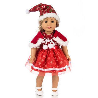Puppe Kleid Hut Cape für 18 Zoll AG American Doll Puppe verkleiden sich