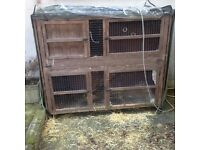 Large 2 level rabbit hutch (FREE)