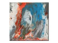 Original abstract painting 'Thermal Reaction' (Acrylic on canvas - 90cm x 90cm x 3.5cm) by AJ Paris