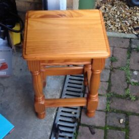 Pine wood side table good condition